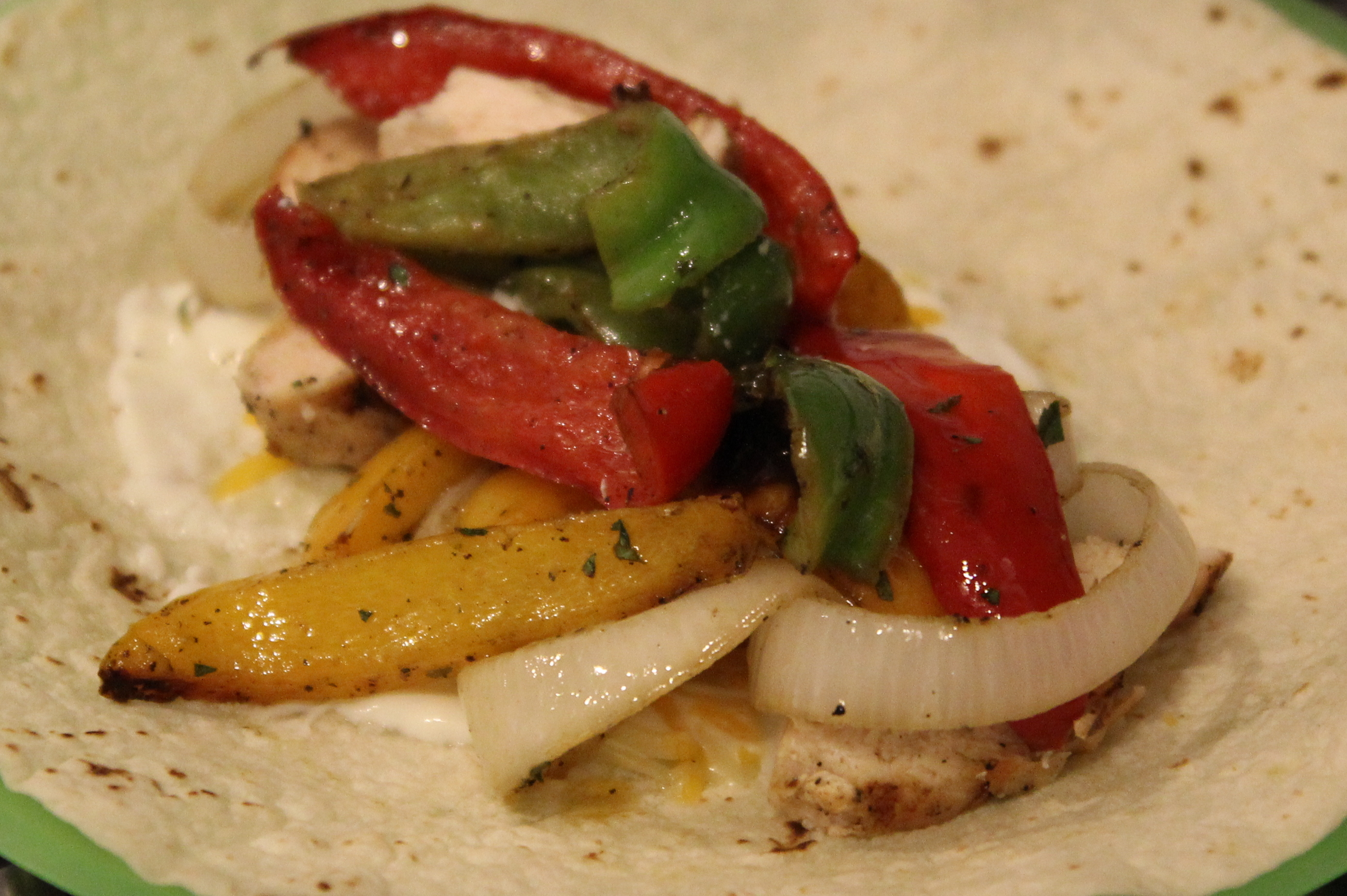 Fresh Grilled Cilantro Lime Chicken Fajitas