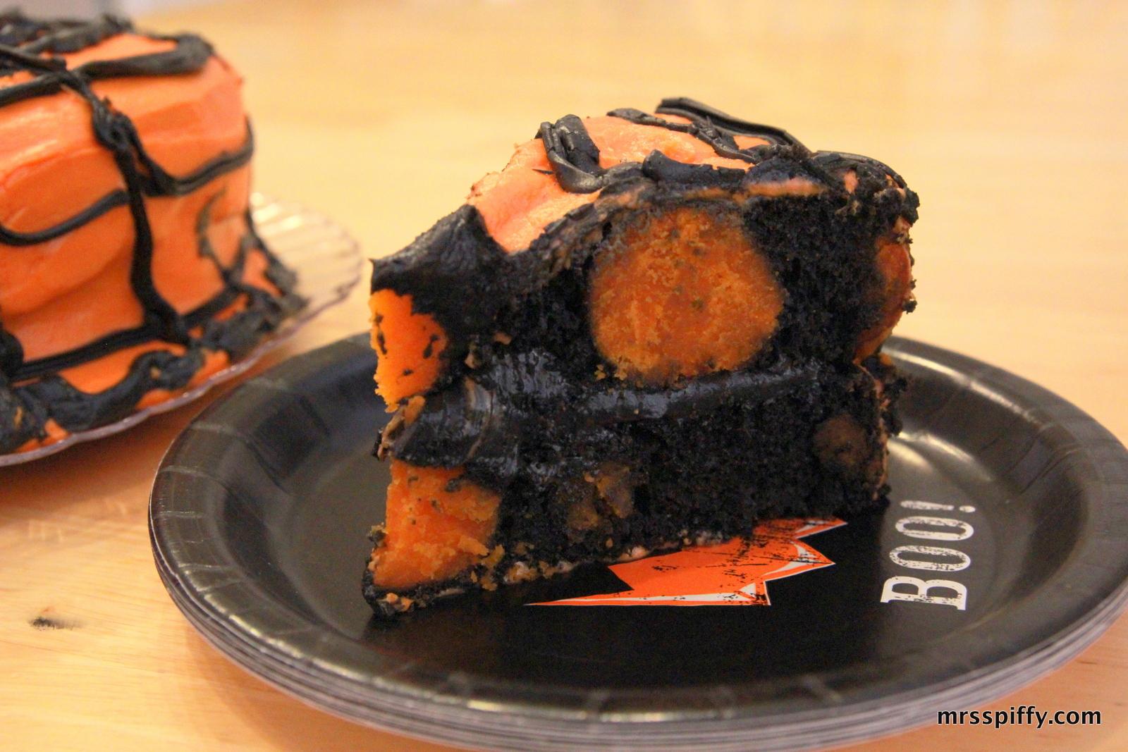 Halloween Polka Dot Cake
