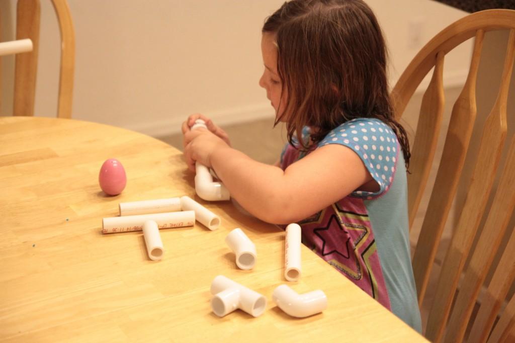 Girl Builds Marshmallow Shooter