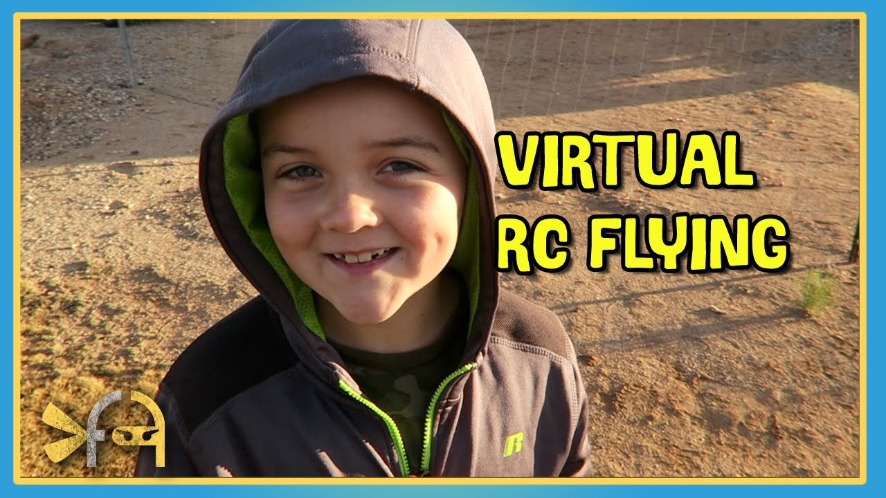 Virtual RC Flying with FPV goggles